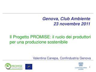 Il Progetto PROMISE: il ruolo dei produttori per una produzione sostenibile