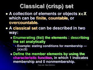 Classical (crisp) set