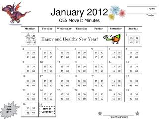 January 2012 OES Move It Minutes