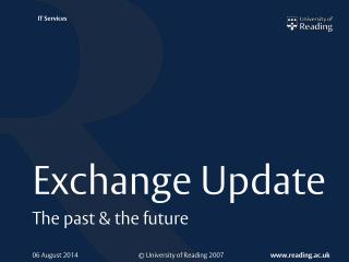 Exchange Update