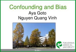 Confounding and Bias