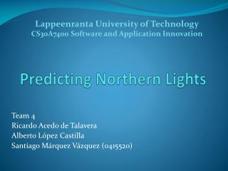 Predicting Northern Lights