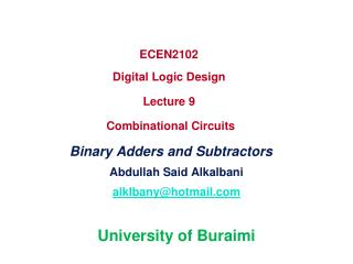 Abdullah Said Alkalbani alklbany@hotmail University of Buraimi