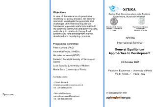 SPERA  Centro Studi Interuniversitario sulle Politiche Economiche, Rurali ed Ambientali