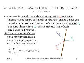6e_EAIEE_ INCIDENZA DELLE ONDE SULLE INTERFACCE (ultima modifica04/12/2012)