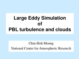 Large Eddy Simulation  of PBL turbulence and clouds