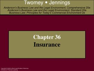 Chapter 36 Insurance