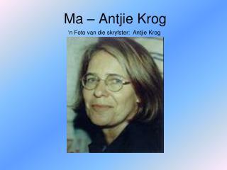 Ma – Antjie Krog