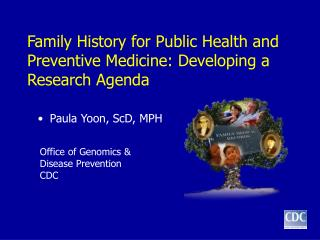 Family History for Public Health and Preventive Medicine: Developing a Research Agenda
