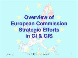Overview of European Commission Strategic Efforts in GI & GIS