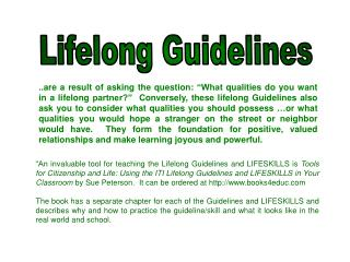 Lifelong Guidelines