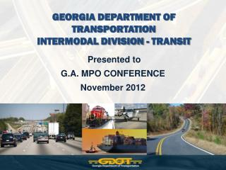 GEORGIA DEPARTMENT OF TRANSPORTATION INTERMODAL DIVISION - TRANSIT