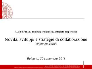 ACNP e NILDE: Insieme per un sistema integrato dei periodici