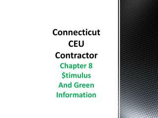 Connecticut CEU Contractor
