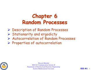 Chapter 6 Random Processes