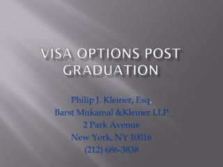 Visa Options post graduation