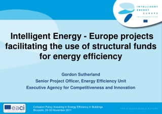 Structural Funds  for Energy Efficiency