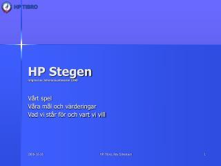 HP Stegen original av Johnny Gustavsson 1998