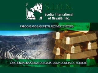 PRECIOUS AND BASE METAL RECOVERY  SYSTEMS