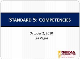 Standard 5: Competencies
