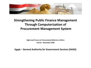 Strengthening Public Finance Management Through Computerization of   Procurement Management System