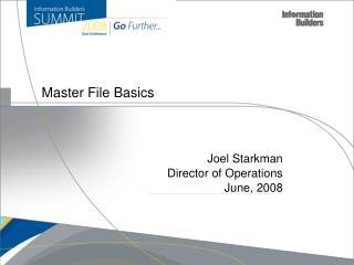 Master File Basics