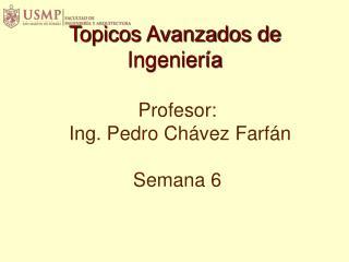 Profesor : Ing. Pedro Chávez  Farfán Semana 6
