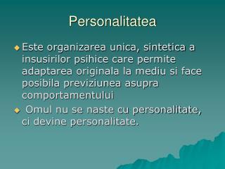 Personalitatea