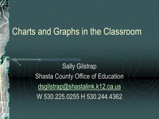 Charts and Graphs in the Classroom