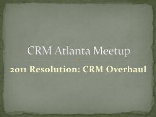 CRM Atlanta  Meetup