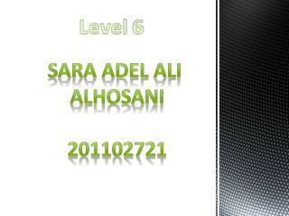 Sara  adel ali Alhosani 201102721