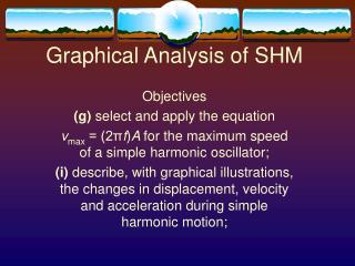 Graphical Analysis of SHM