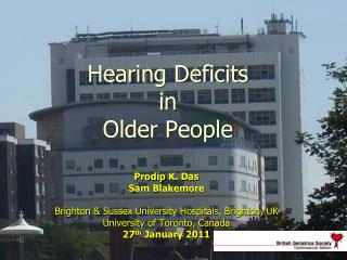 Hearing Deficits  in Older People