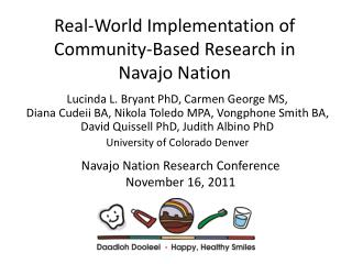 Real-World Implementation of Community-Based Research in Navajo Nation