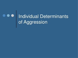 Violence and Aggression between Groups  The role of threatened egotism