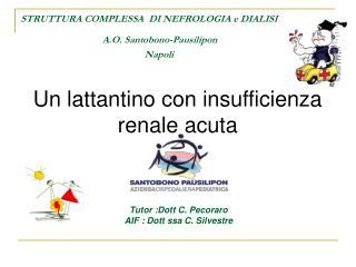 Un  lattantino  con insufficienza renale acuta