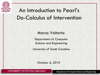 An Introduction to Pearl s  Do-Calculus of Intervention