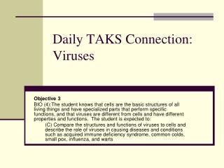 Daily TAKS Connection: Viruses