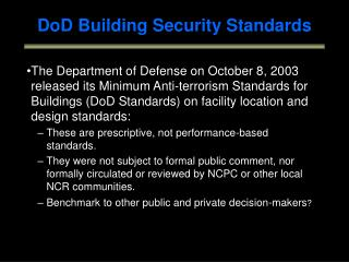 DoD Building Security Standards