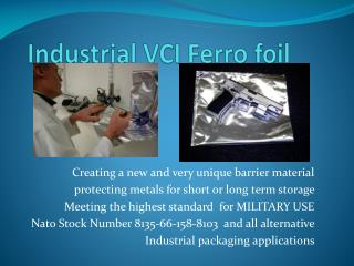 Industrial VCI Ferro foil