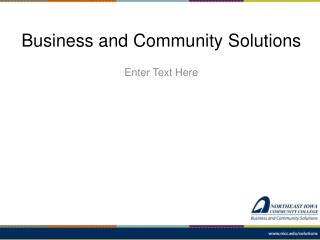 Business and Community Solutions