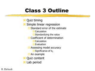 Class 3 Outline