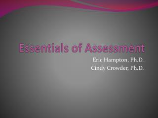 Essentials of Assessment