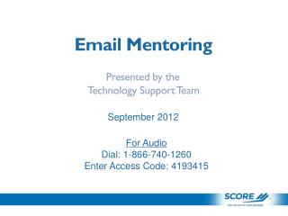 Email Mentoring