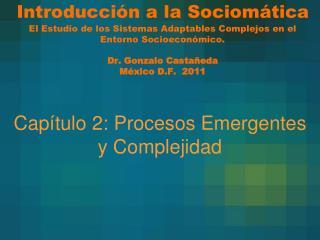 Capítulo 2: Procesos Emergentes y Complejidad