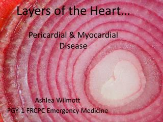 Layers of the Heart… Pericardial & Myocardial  Disease