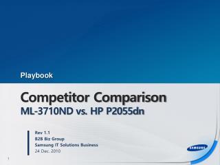 Competitor Comparison ML-3710ND vs. HP P2055dn