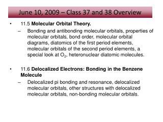 11.5  Molecular Orbital Theory.