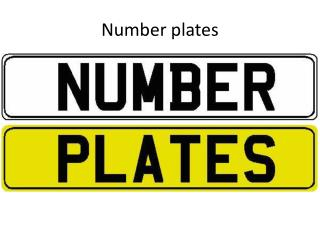 Number plates and Show plates