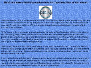 sbga and make a wish foundation grant six year